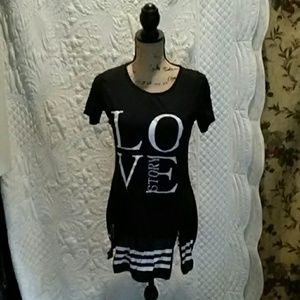 """Black Mini dress. With the word """"Love 💖 on it"""